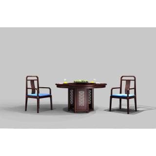 海纳百川系列-餐厅 材质 非洲紫檀 规格 2598x1380x980
