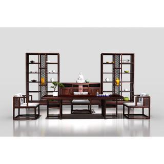 海纳百川系列-茶室 材质 非洲紫檀 规格 1860x800
