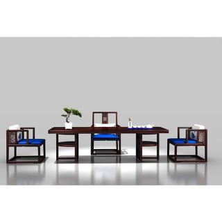 海纳百川系列-茶台 材质 非洲紫檀 规格 2598x1380
