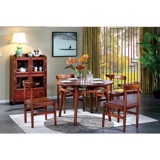 雅芳系列 c603餐桌 5件套 材质:金车花梨 规格:2100x800