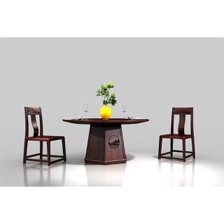 江山系列-1.58餐台 材质 非洲紫檀 规格 2650x2650