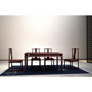 牡丹系列-牡丹餐台 材质 非洲紫檀 规格 2660x1960
