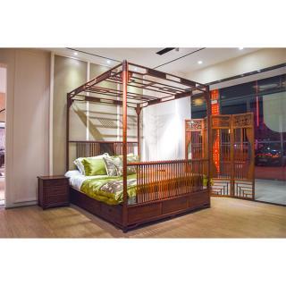 战国系列 云龙架子床 材质:小叶红檀 规格:2000x1800