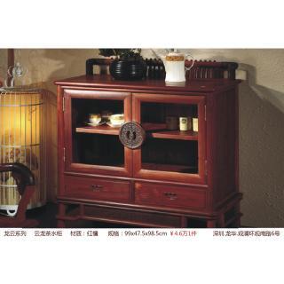 龙云系列 云龙茶水柜 单件 材质:小叶红檀 占位:99x47.5x98.5cm YLXL26