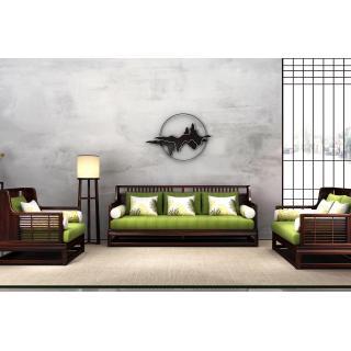 33知音系列-知音沙发    材质 非洲紫檀     规格 3560x2280     11.65万6件