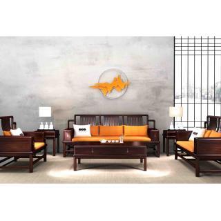 27江山系列 日出沙发    材质 非洲紫檀     规格 3510x2420   8.76万6件