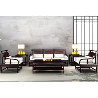32尚意系列-尚意沙发   材质 非洲紫檀     规格 32201565      9.37万6件
