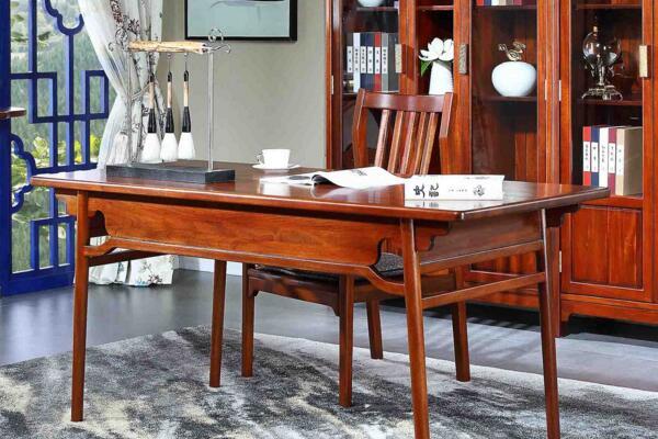 缅甸花梨木书桌